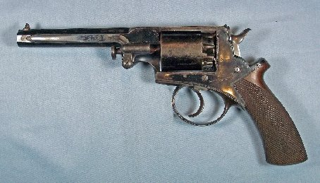Beaumont-Adams single trigger, spur hammer revolver
